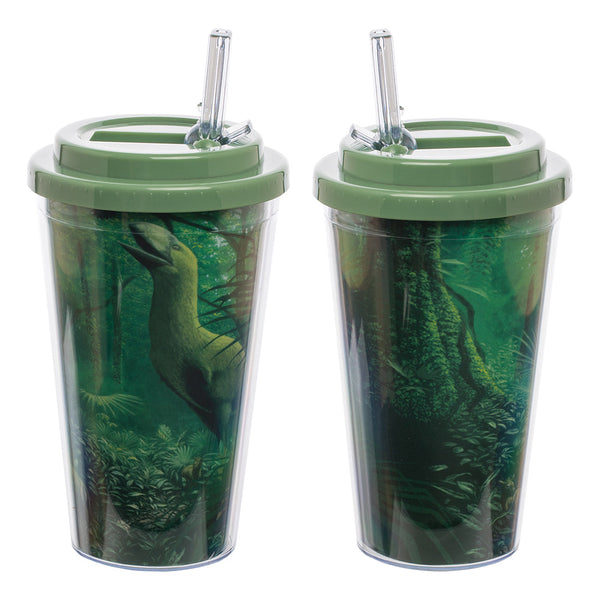 Smithsonian Deep Forest 16 oz. Flip Straw Acrylic Cup