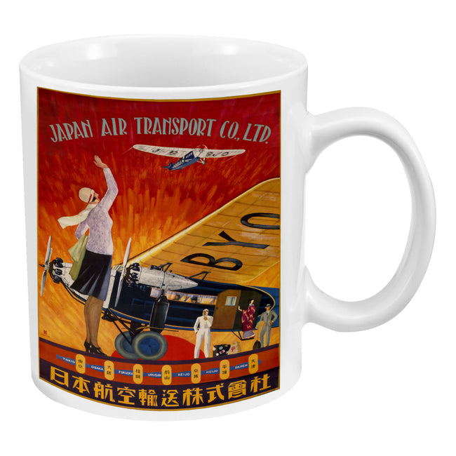 Smithsonian Japan Air Transport Poster 12 oz. Ceramic Mug