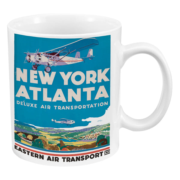 Smithsonian New York Atlanta Vintage Travel Poster 12 oz. Ceramic Mug