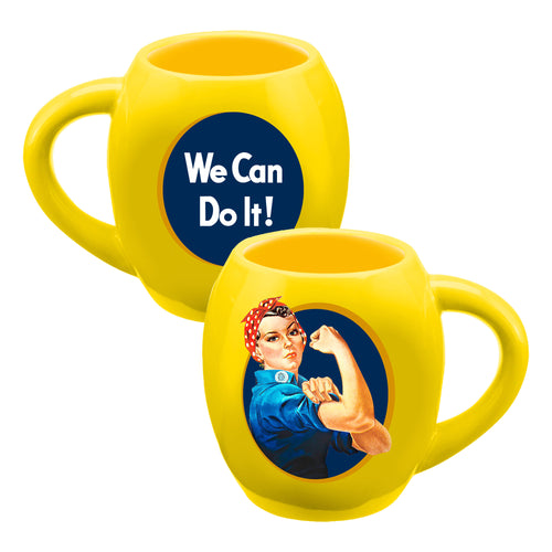 Smithsonian Rosie The Riveter 18 oz. Oval Ceramic Mug
