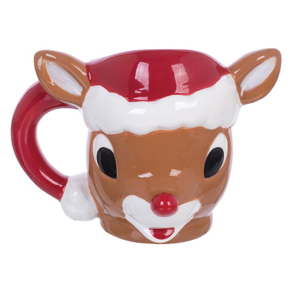 Rudolph The Red-Nosed Reindeer 10 oz. Sculpted Ceramic Mug