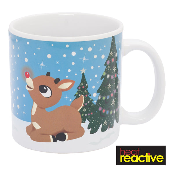 Rudolph 20 oz. Ceramic Heat Reactive Mug