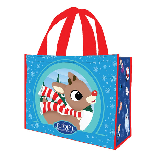 Rudolph Large Gift Recycled Shopper Tote