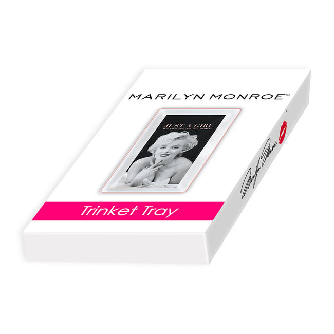Marilyn Monroe Just a Girl Trinket Tray