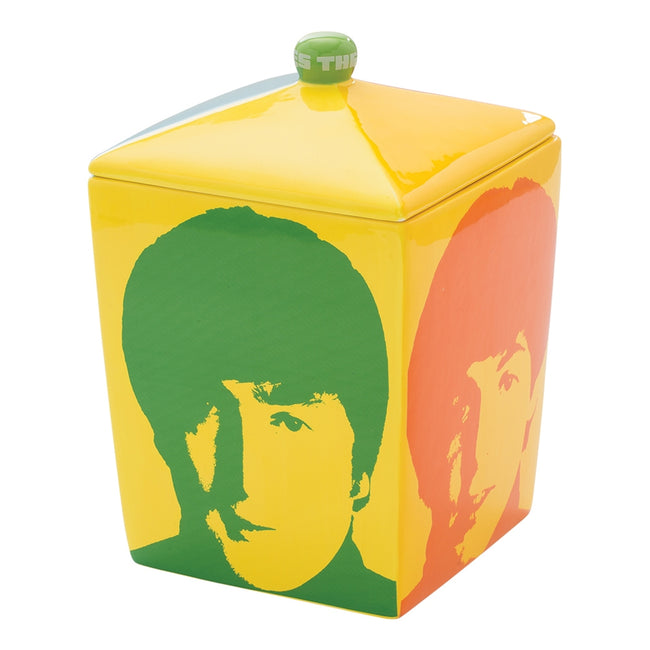 The Beatles Color Bar Ceramic Cookie Jar