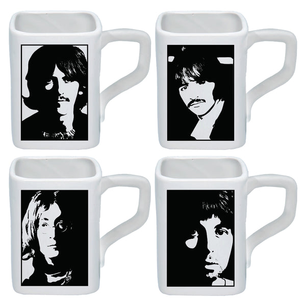 The Beatles White Album Square 4 pc. 12 oz. Ceramic Mug Set