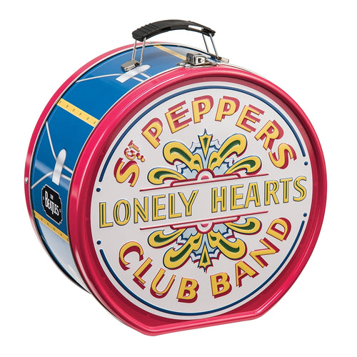 The Beatles Sgt Pepper's Drum Shaped Tin Tote