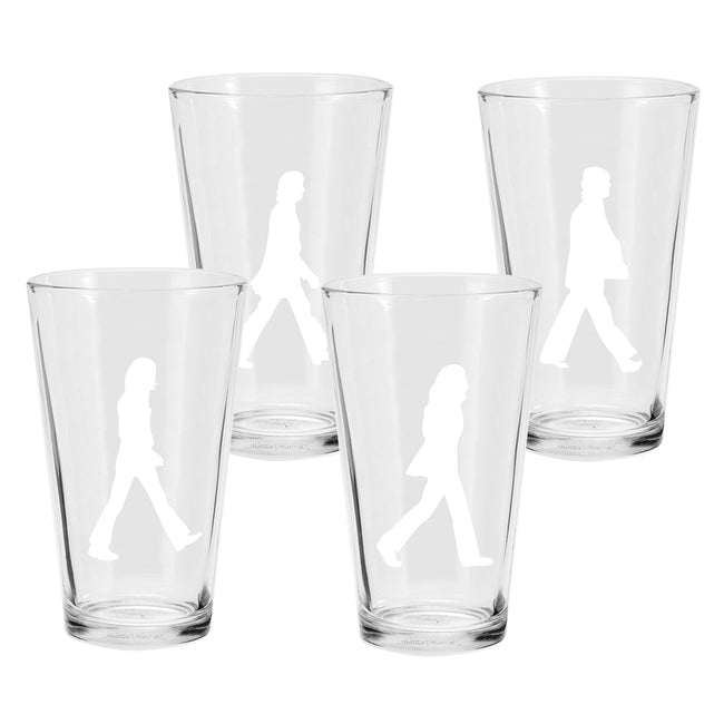 The Beatles Abbey Road 16 oz. Glasses - Set of 4