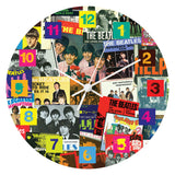 "The Beatles Singles Collection 13.5"" Wood Wall Clock"