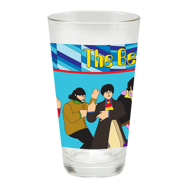 The Beatles Yellow Submarine 16 oz. Laser Decal Glasses - Set of 2