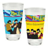 The Beatles Yellow Submarine 2 pc. 16 oz. Laser Decal Glass Set