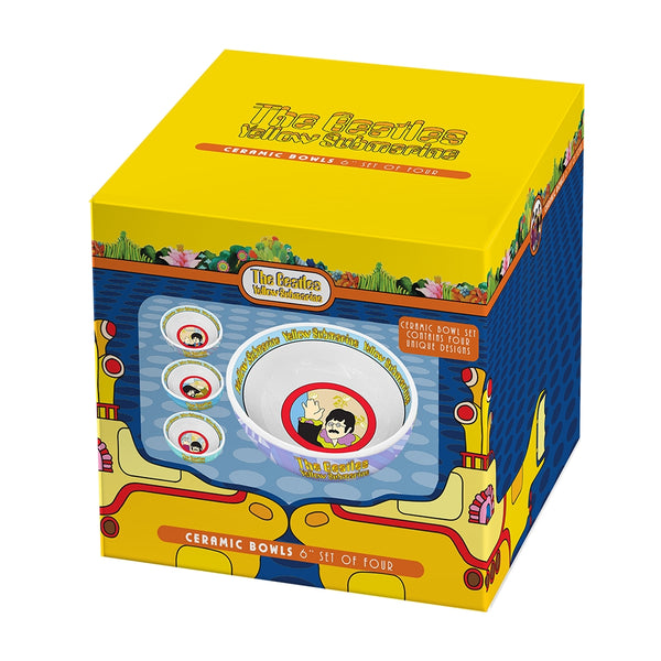 The Beatles Yellow Submarine 4 pc. 6 in. Ceramic Bowl Set