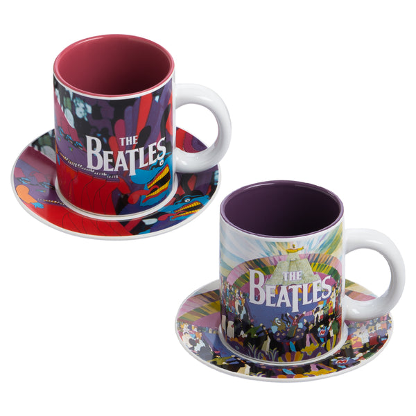 The Beatles Yellow Submarine Teacups & Saucers Set of 2