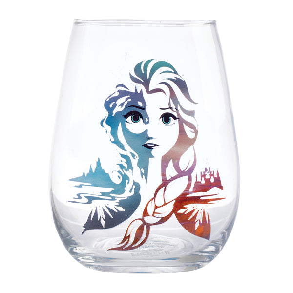 Disney Frozen 2 Elsa & Anna 18 oz. Contour Glasses - Set of 2