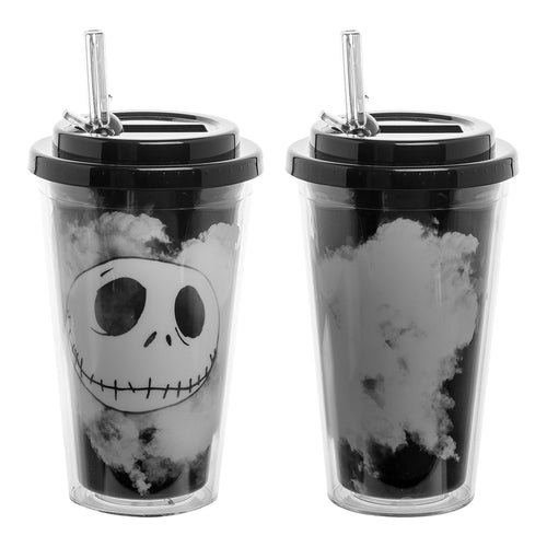 The Nightmare Before Christmas Jack 16 oz. Flip Straw Acrylic Cup