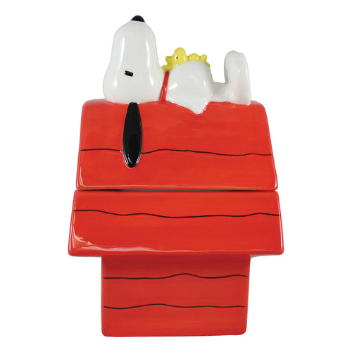 Peanuts Snoopy Doghouse Sculpted Ceramic Cookie Jar