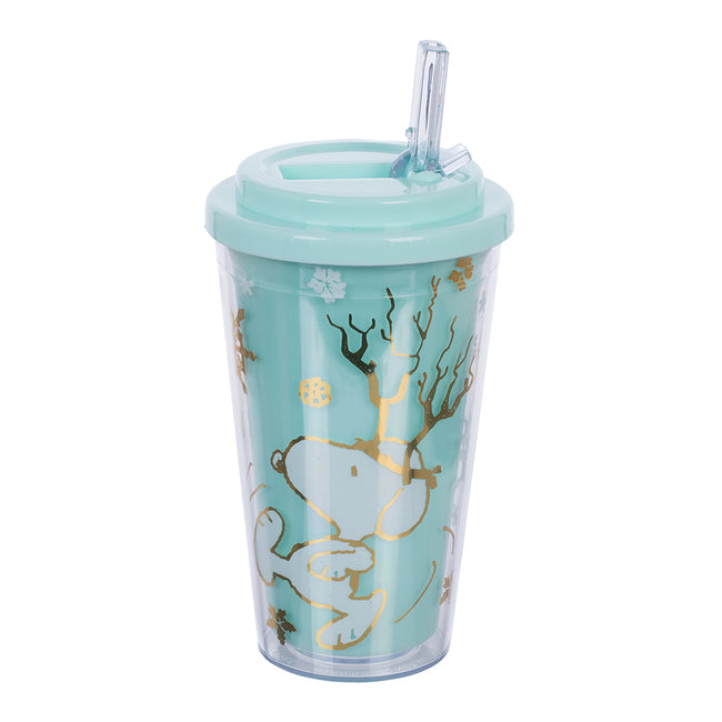Peanuts Snoopy Holiday 16 oz. Flip Straw Acrylic Cup