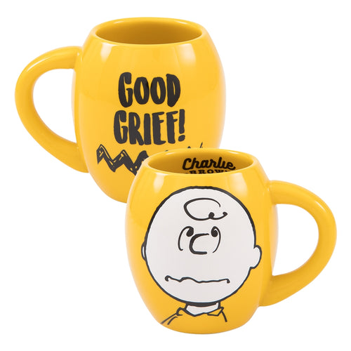Peanuts Charlie Brown 18 oz. Oval Ceramic Mug