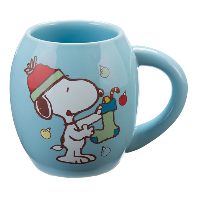 Peanuts Snoopy Holiday 18 oz. Ceramic Oval Mug