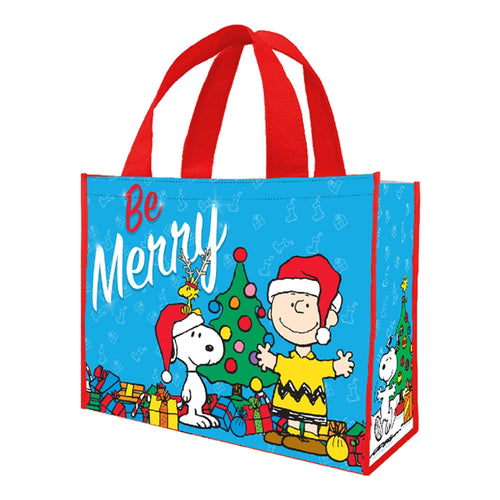 Peanuts Be Merry Large Gift Recycled Shopper Tote