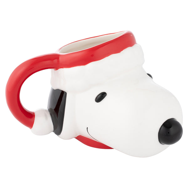 Snoopy in Santa Hat 14 oz. Sculpted Ceramic Mug