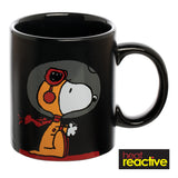 Peanuts Snoopy 12 oz. Heat Reactive Ceramic Mug