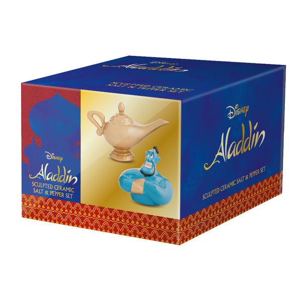 Disney Aladdin Abu & Lamp Sculpted Ceramic Salt & Pepper Set
