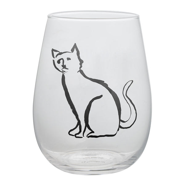 Chelsea Petaja Cool Cats 2 pc. 18 oz. Contour Glass Set