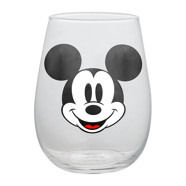 Disney Mickey & Minnie Mouse 18 oz. Contour Glass Tumblers