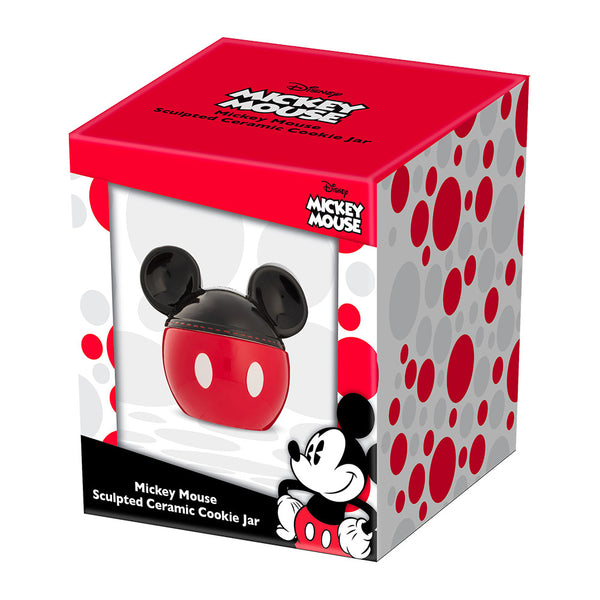 Disney Mickey Mouse Sculpted Ceramic Cookie Jar