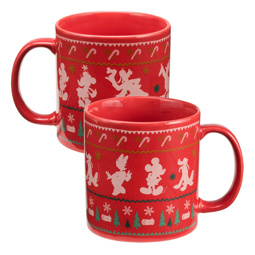 Disney Mickey Mouse Ugly Sweater 20 oz. Ceramic Mug