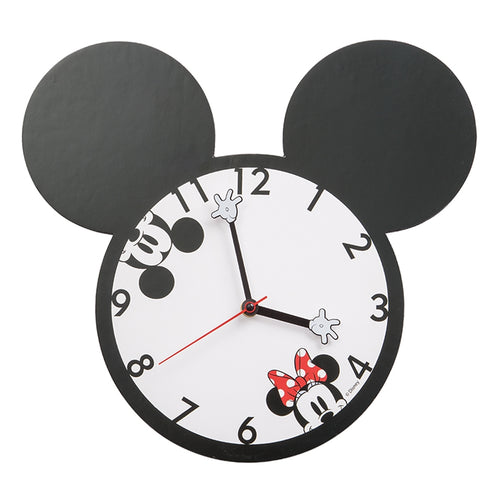 Disney Mickey & Minnie Shaped Deco Clock