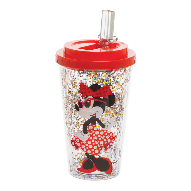 Disney Minnie Mouse 16 oz. Flip Straw Acrylic Cup