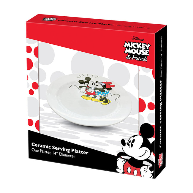 Disney Mickey & Minnie Mouse 14 in. Ceramic Serving Platter
