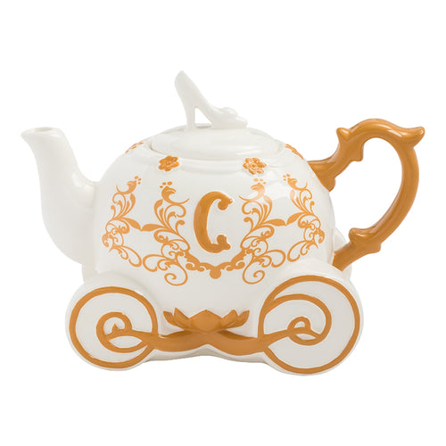 Cinderella Carriage Sculpted Ceramic Teapot