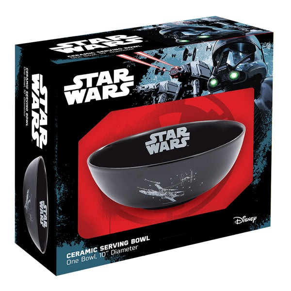 Star Wars X-Wing & Imperial Ship 10 in. Ceramic Serving Bowl