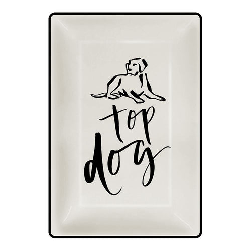 Chelsea Petaja Top Dog 4x6 Trinket Tray