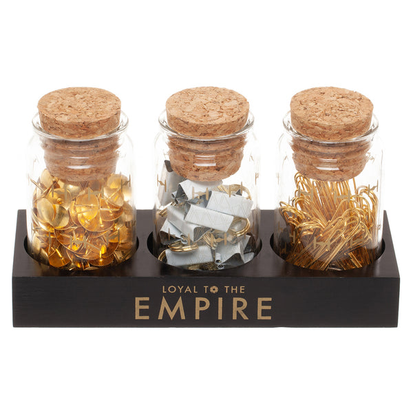 Star Wars Glass Jar Set with Accessories & Base