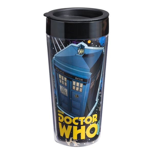 Doctor Who 16 oz. Plastic Travel Mug