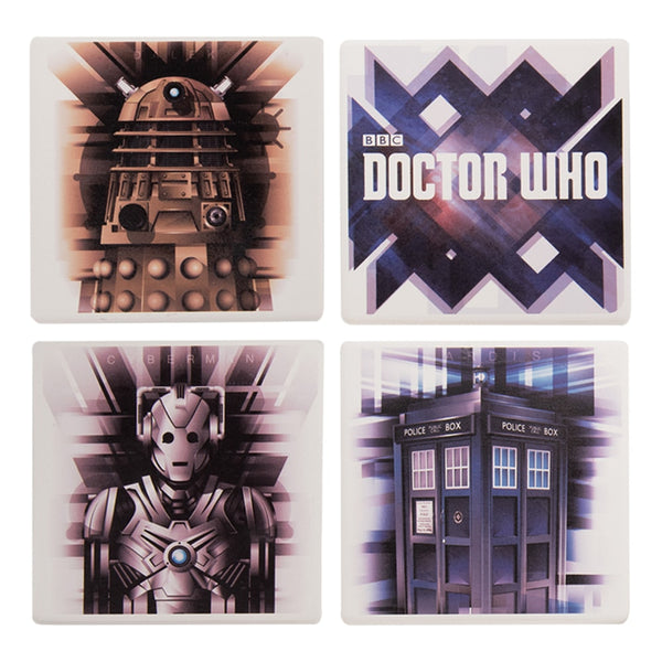 Doctor Who 4 pc. Ceramic Coaster Set