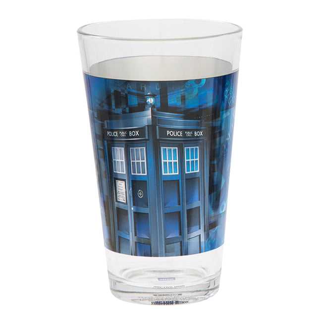 Doctor Who 2 pc. 16 oz. Laser Decal Glass Set