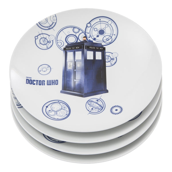 Doctor Who 4 pc. 10 in. Ceramic Plate Set