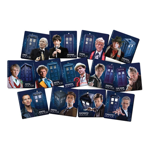 Doctor Who 13 pc. Coaster Set with Tin Storage Box