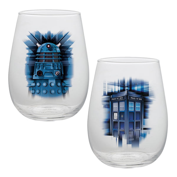Doctor Who 2 pc. 18 oz. Contour Glass Tumblers