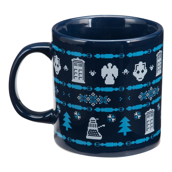 Doctor Who Ugly Sweater 20 oz. Ceramic Mug