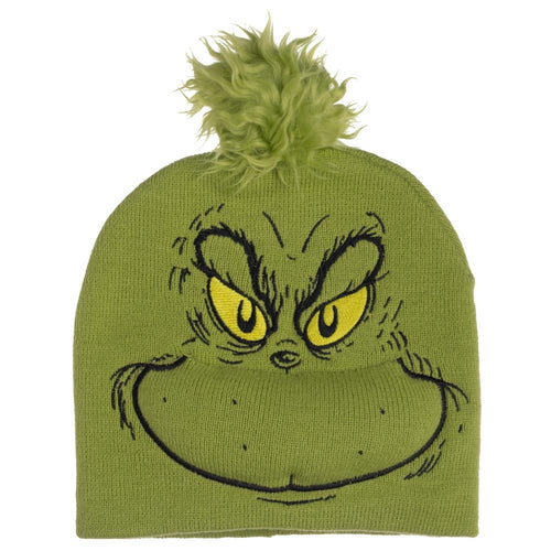 Dr. Seuss Grinch Big Face Knit Cap