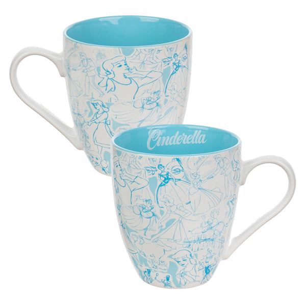 Disney Cinderella 16 oz. Contemporary Ceramic Mug