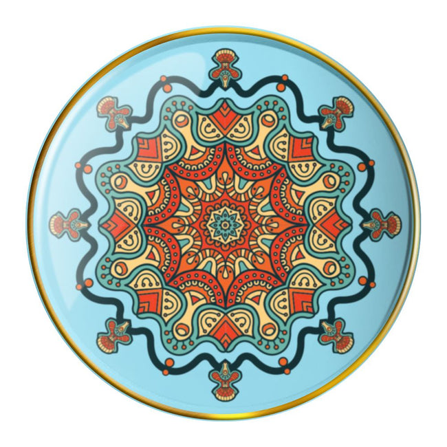 Mandala 4 pc. Round Trinket Tray Set