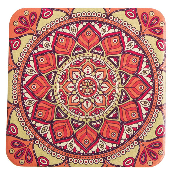 Mandala 4 pc. Ceramic Coaster Set