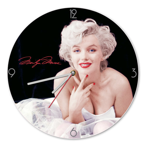 marilyn monroe 135 cordless wood wall clock